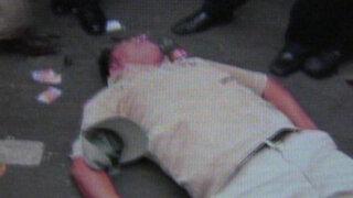 Caballos de la Policía aplastan a trabajador del INPE