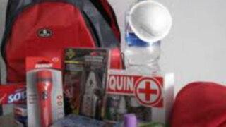 Todas las familias deben tener una mochila de emergencia en caso de desastres
