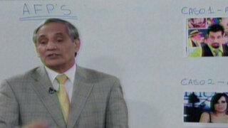 Despeje sus dudas sobre las AFP con el economista Jorge González