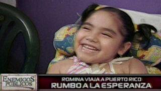 Rumbo a la esperanza: la pequeña Romina viaja a Puerto Rico
