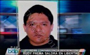 Periodista Rudy Palma con comparecencia restringida