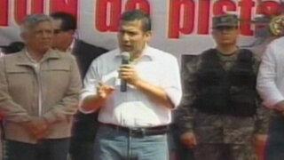 Presidente Humala: Trabajemos contra la injusticia, corrupción e inseguridad