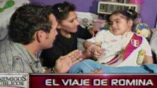 El viaje de Romina: menor partió al extranjero para recibir tratamiento