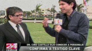 Padre de Ciro Castillo afirma tener testigo clave sobre la muerte de su hijo