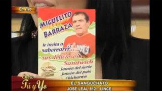 """Miguelito Barraza venderá sus """"sanguchatos"""" en Lince"""