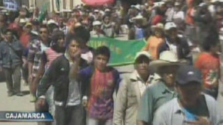 Cajamarquinos realizan protestas pese a estado de emergencia