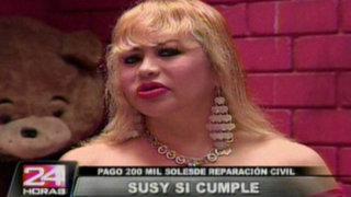 Primeras declaraciones de Susy Díaz tras pagar reparación civil