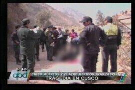 Cinco muertos y cuatro heridos tras despiste de una camioneta en Cusco