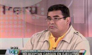 Presidente de Áncash: Por culpa de Gregorio Santos estamos siendo mal vistos