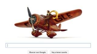 """Google dedica su """"doodle"""" a mujer piloto Amelia Earhart"""