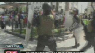 Maestros del Sutep realizan violentas protestas en el interior del país