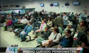 Delincuentes utilizan diversas modalidades para estafar a jubilados en Fiestas Patrias