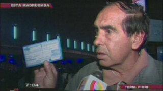 Pasajeros protestan por incremento del precio de pasajes en terminal de Fiori