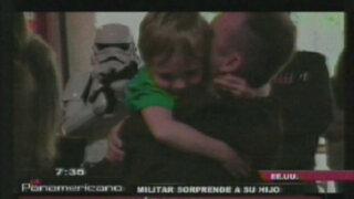 EEUU: soldado regresa de Afganistán disfrazado de un caballero Jedi