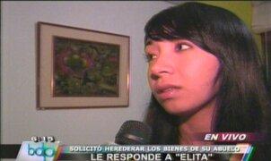 "Jovita Vásquez responde a ""Elita"" tras pedido de herencia"