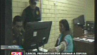 Huacho: sujeto que quemó a esposa manifiesta no arrepentirse de sus actos