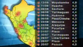 Unos 130 sismos se han registrado hasta la fecha en todo el Perú