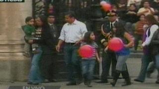 Familia presidencial celebra el Día del Niño en la Plaza de Armas
