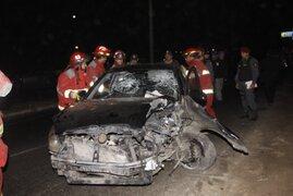 Accidente de tránsito deja un muerto y tres heridos en la Costa Verde