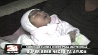 Padres de super bebe piden a benefactores cumplir con ayuda prometida