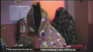 SJM: cierran prostíbulos clandestinos que funcionaban como hostales
