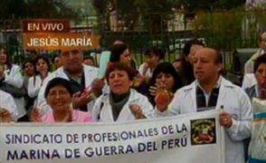 Médicos de FF. AA anuncian paro indefinido si pedidos no son atendidos