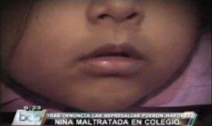 Niña es víctima de maltratos en su colegio en San Juan de Lurigancho
