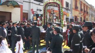 Policía Nacional rinde sentido homenaje a su patrona Santa Rosa de Lima