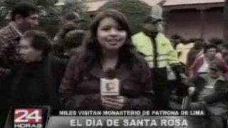 Templo de Santa Rosa de Lima es visitado por miles de fieles en su día