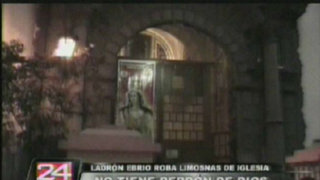 Detiene a sujeto ebrio que robó limosnas de iglesia La Merced