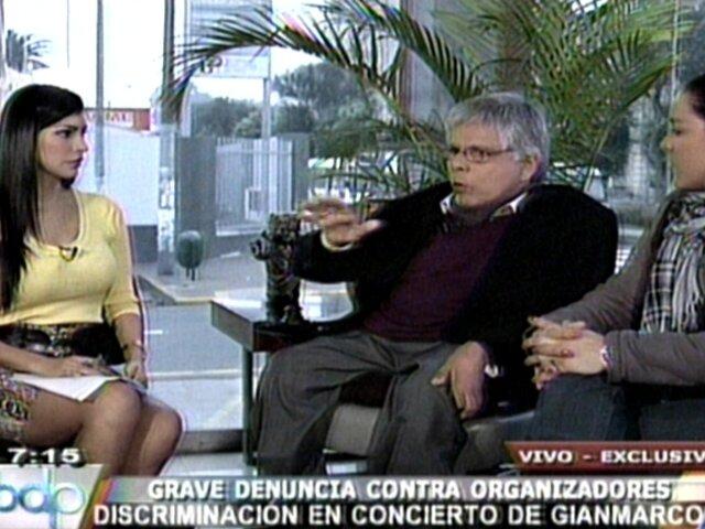 Productora de Gianmarco responde a denuncia por discriminación