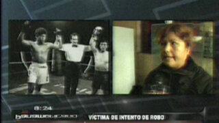 Mujer noquea a exboxeador Mario Broncano para evitar robo de casa