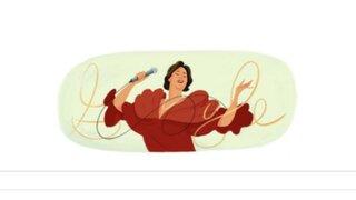 Google dedica doodle a la cantante peruana Chabuca Granda