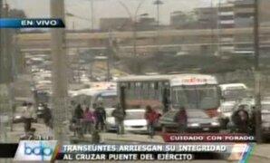 Forado en Puente del Ejército genera congestión en la avenida Caquetá