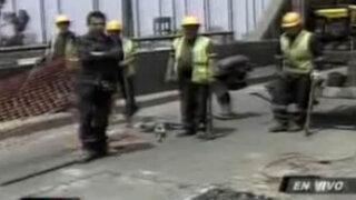 Emape indica que obras para reparar puente del Ejército durarán dos días