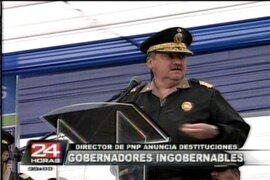 Director de la PNP anuncia destituciones a gobernadores de Cajamarca