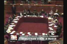 Autorizan viaje del presidente Ollanta Humala a Rusia