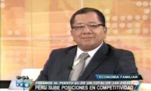Carlos Anderson analiza la posición de Perú en ranking de competitividad