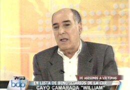 """Tapia deslinda responsabilidad de la CVR por caso de camarada """"William"""""""