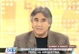 Percy Rojas: Tenemos jugadores que pueden lograr un triunfo ante Argentina