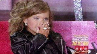Polémica en EE.UU por video de niña fumando cigarro en reality
