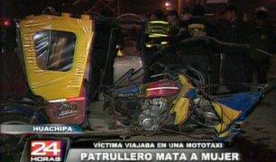 Policías atropellan y matan a comerciante en Huachipa