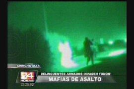 Chincha: mafias de asalto se enfrentan a policías a balazos