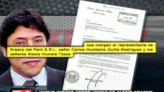 Documento confirmaría relación entre Alexis Humala y empresa Krasny
