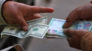 Precio del dólar bajó a S/.2,815 tras intervención del BCR en el mercado