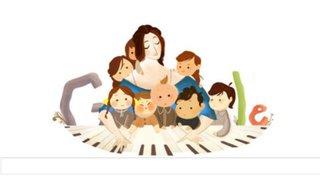 Google rinde homenaje a la pianista Clara Schumann con un doodle