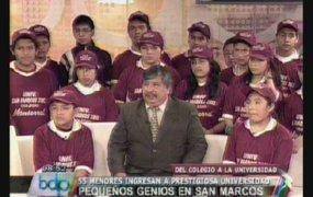 Pequeños genios en San Marcos: 55 niños pasaron examen de admisión
