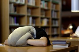 La almohada de avestruz que te permite tomar siestas en cualquier lugar