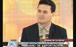Diseñador Sergio Dávila en Buenos Días Perú