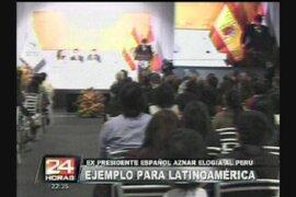Políticos internacionales destacan el crecimiento económico de Perú